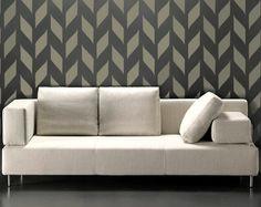 STENCIL for walls - Modern allover wall stencil - Woven Pattern - Reusable DIY Home Decor. $34.95, via Etsy.