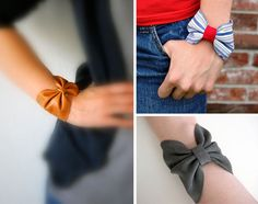 DIY Bow Bracelets how cute . YES I WILL