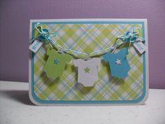 Handmade Baby Card  Hello Baby Onesies Card  by GGgreetings, $3.75
