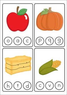 Literacy Centers - Autumn (Beginning Skills) Great for Pre-K, Kinder and Grade 1