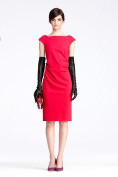 DVF   Gabi Dress In Raspberry, Pre-Fall 2012: Macadam Diva