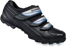Shimano WM51 bike shoes: I've been using Power Grips for a long time because I don't like having to change shoes. I finally caved and bought a pair of cycling shoes after doing research on foot problems during long-distance cycling. These have a solid sole (reduces stress on arches) and wiggle-room for my toes, while fitting comfortably on the sides. I was skeptical of the velcro closure, but they adjust to fit well, and make it easier to take these off quickly.