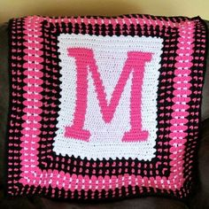 CROCHETING LETTERS ON BLANKETS - CROCHET PATTERNS