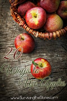 There are so many ways that you can use those extra apples besides just apple pie!  Who knew?!?