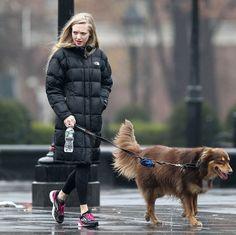 Celebrity Dog Lovers - Amanda Seyfried and Finn.