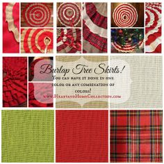 Burlap Tree Skirt - Use one color or up to 5! – Heart & Home