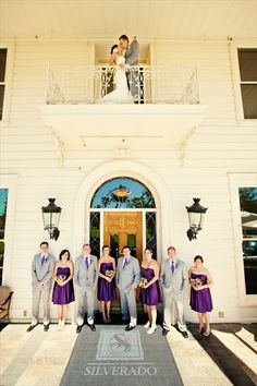 Balcony shot at the Mansion. Beautiful wedding photography.