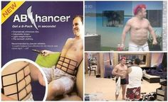 Instant abs for dudes - the AbEnhancer, instant 6 pack