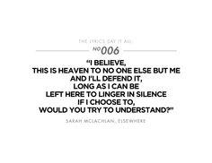 Sarah McLachlan - Elsewhere lyrics (covered by Bethany Joy Lenz)