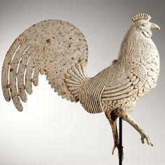 Rooster weathervane    Attributred to Rochester Ironworks  Gilmanton, New Hampshire, circa 1880-1900