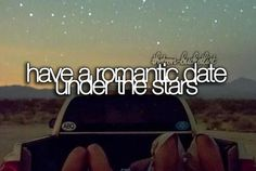 date under the stars