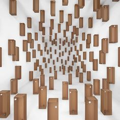 Motors used to create moving cardboard installations.