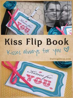 Gift a Kiss Flip Book for your Valentine. www.TheDatingDivas.com #kissing #freeprintables #longdistance