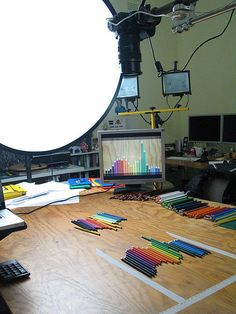 Stop motion animation music video with color pencils