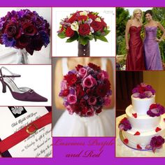 Red & purple wedding