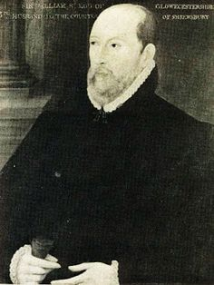 Inscribed Sir William St. Loe (1518–1565), Bess' third husband, but now said to be Matthew Stewart, 4th Earl of Lennox (21 September 1516 – 4 September 1571). ARBELLA'S PATERNAL GRANDFATHER. Hardwick Hall.