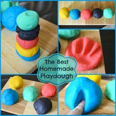 homemad playdough, craft, homemade playdough, dough recipes, homemade recipe, food coloring, coconut oil, playdough recip, kid