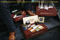 10% off coupon code for the groomsman gift that keeps on giving long after the wedding http://groomsadvice.com/2014/03/25/subscribe-your-groomsmen-to-monthly-boxes-of-awesome/