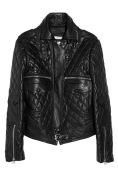 J.W.Anderson|Quilted leather biker jacket|NET-A-PORTER.COM
