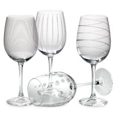 BB and B Frosted Wine Glasses