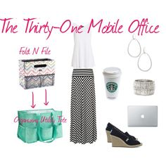 The Thirty-One Mobile Office.  The Fold N File fits perfectly into our Organizing Utility Tote.  Great for files and your laptop!  #thirtyone