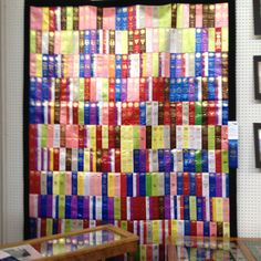 Ribbon quilt found at Iowa State Fair.