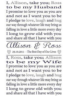 vow print, vow idea, stuff, weddings, wedding vows ideas, big, personalis, prints, wedding vow's