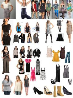 Sugestions for clothes for apple shaped women