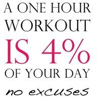 No excuses - seriously.