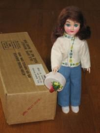 Blue Bonnet Girl Next Door Vintage Plastic Doll