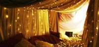 craft, activities for kids, blanket forts, christmas lights, tent, blankets, den, bedroom, 75 kid