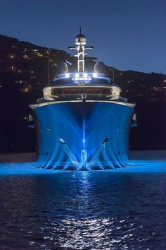 Luxury Yacht by Night