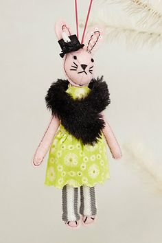 Soiree Bunny Ornament #anthropologie