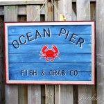 diy coastal sign