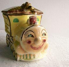 Image detail for -Vintage Cookie Jar Train Locomotive Sierra by AletaFordBakerDesign