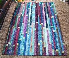batik plus squares jelly roll race quilt from Kandace, KK454, on flickr