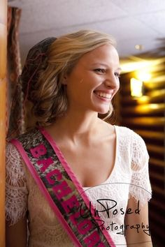 Camouflage Bachelorette Sash with Hot Pink trim by BrideMeetsWedding, $18.00