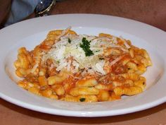 Casarecci with Sausage Recipe served at Tutto Italia in EPCOT at Disney World