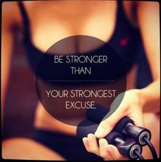 Be stronger than your strongest excuse!  #fitnessmotivation #weightloss #gymlife #beachbody #transformation  #fitness #healthy