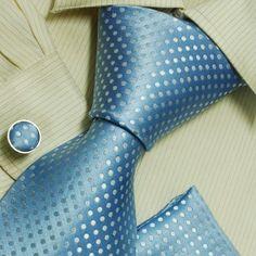 Blue men neck tie