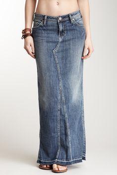 Love this denim skirt