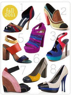 color - block shoes