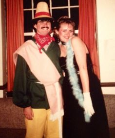 Author #AshlynMacnamara talks #Halloween!  (Halloween party in 1985) My husband and I were at university and newly dating. I think I was a starlet--those are Madonna-style sunglasses on my head! I made the bodice entirely by hand, as I had no sewing machine!  My favorite paranormal romance is so old-school, it came out before paranormal romance existed as a genre! I found it in the library and devoured it: BEYOND THE STARLIT FROST by Rebecca Brandwyne.
