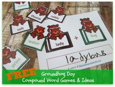 FREE Groundhog Day Lesson on Teaching Compound Words and Ideas!
