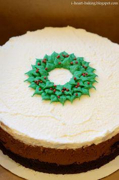 i Coração cozimento: natal triplo bolo de mousse de chocolate de