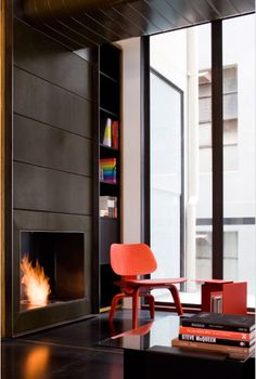 × By: Jackson Interiors / #space #interior #orange