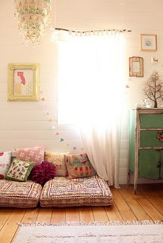 reading corners, little girls, curtain rods, floor pillows, kid rooms, nurseri, reading nooks, little girl rooms, floor cushions
