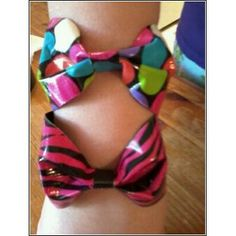 Duct tape bow bracelets