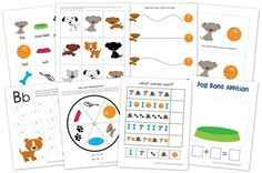 Dogs Preschool Pack ~ Free Preschool Printables PET THEME!