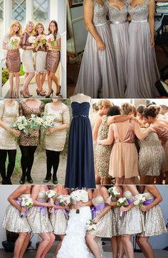 Sequined bridesmaid dresses ideas - 2014 Sparkly Bridesmaid Dresses ideas... Could work??